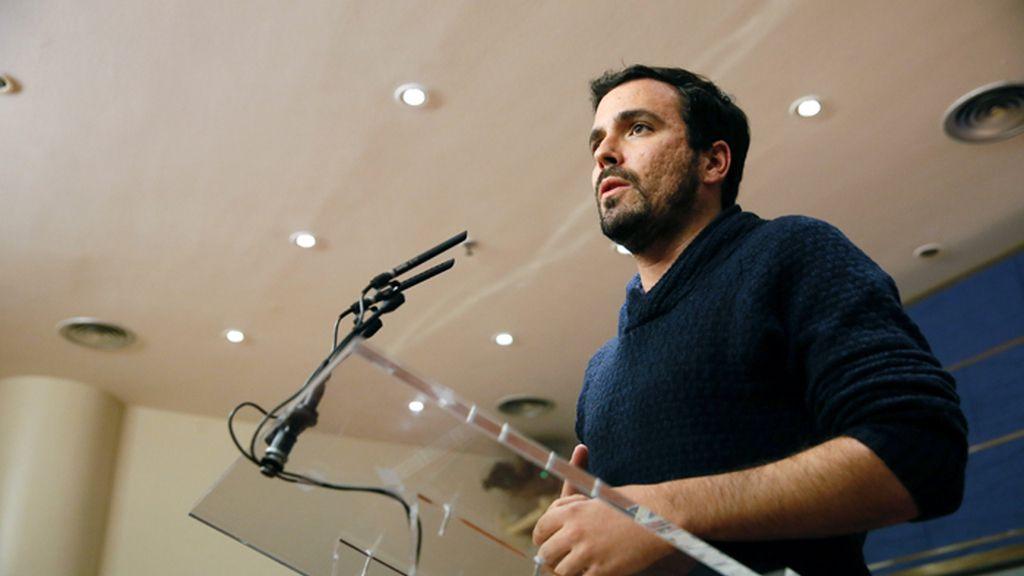 Rueda de prensa de Alberto Garzón