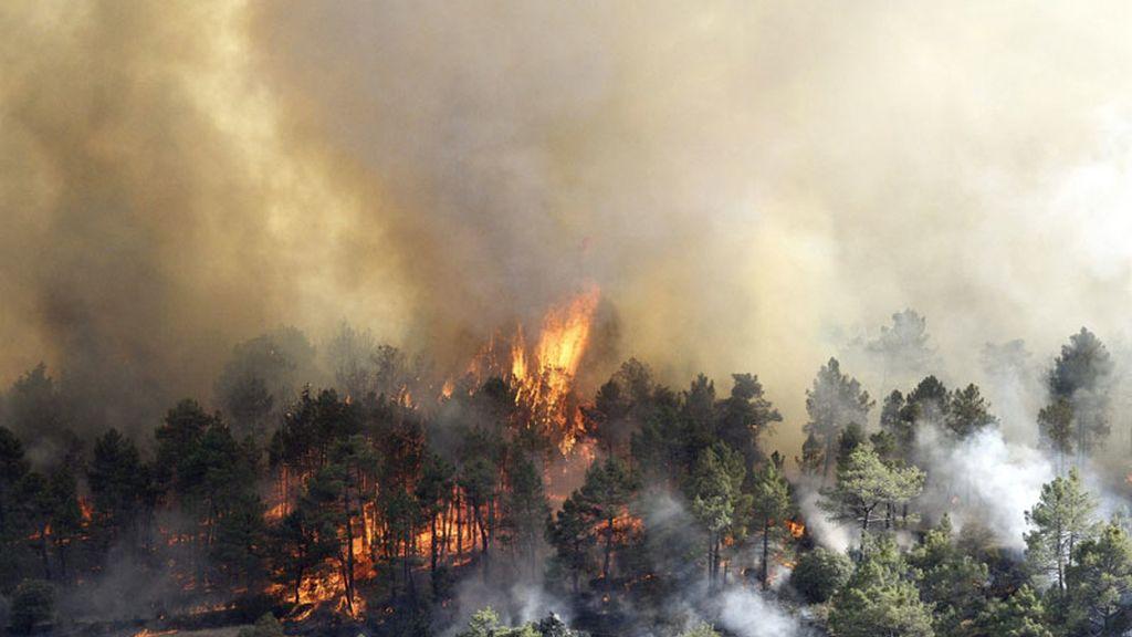 Incendio entre los municipios de Robledo de Chavela y Valdemaqueda (Madrid)