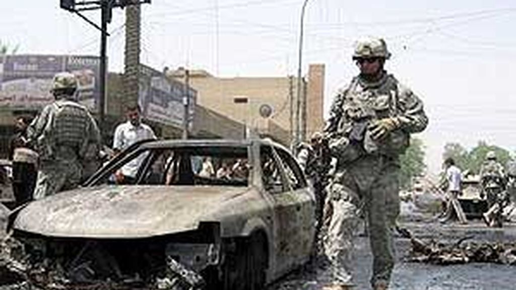 Imagen de archivo de soldados estadounidenses desplegados en Irak. Foto: EFE.