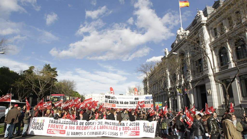Manifestación en Madrid contra las políticas de austeridad