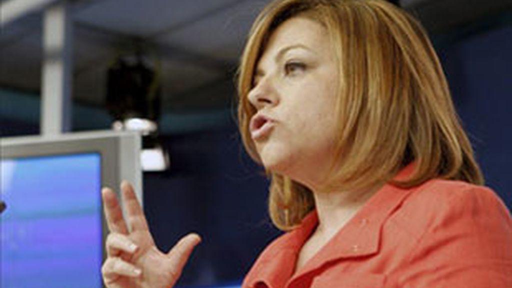 Imagen de archivo de la coordinadora del Comité Electoral del PSOE, Elena Valenciano. Foto: EFE.