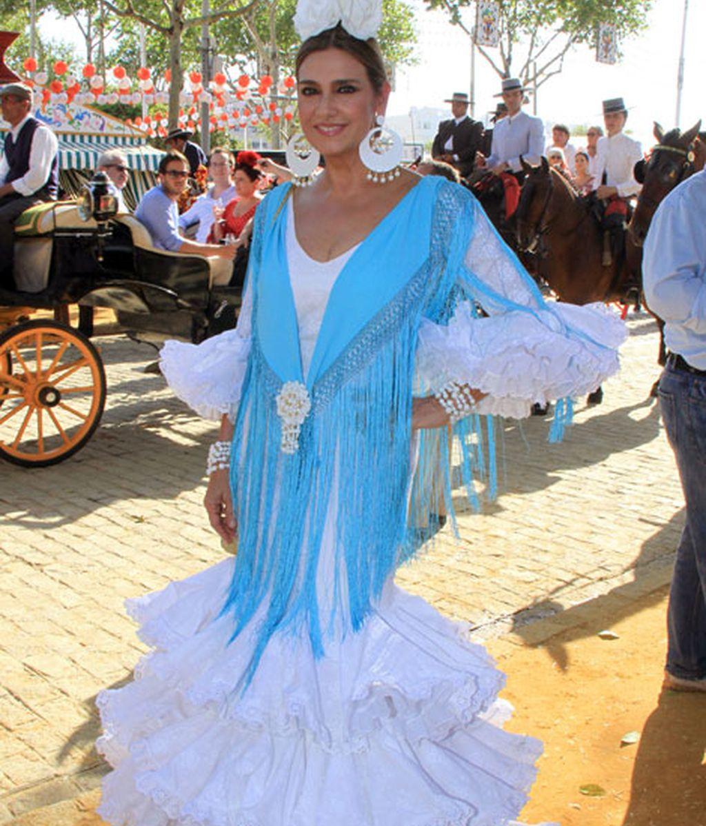 La diseñadora Marina Danko, se pone flamenca