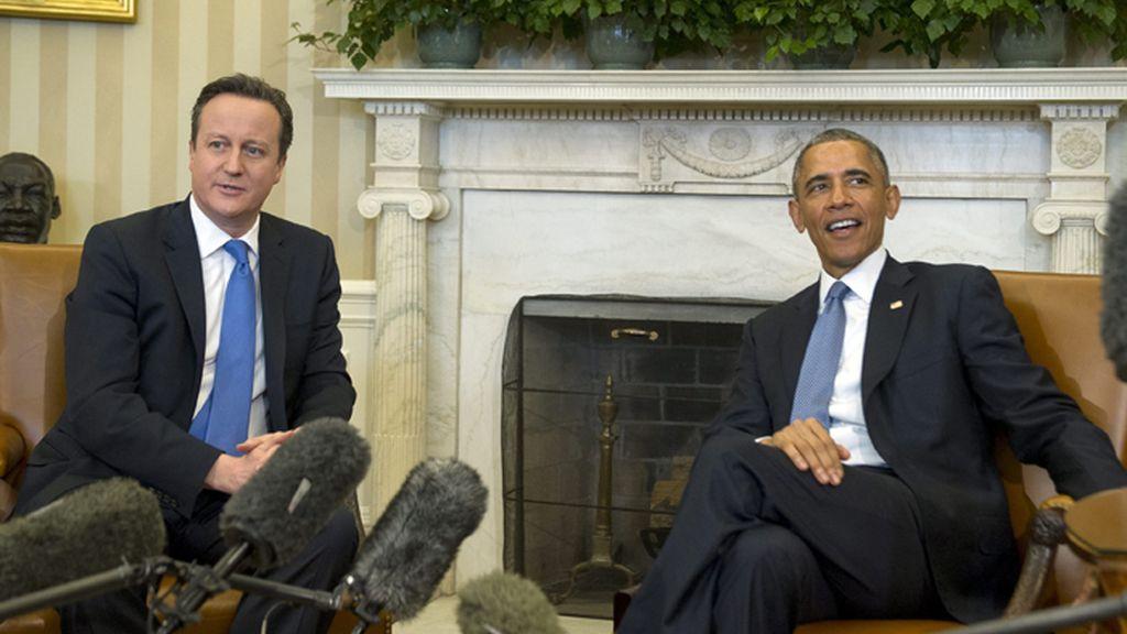 Obama se reúne con Cameron en Washington