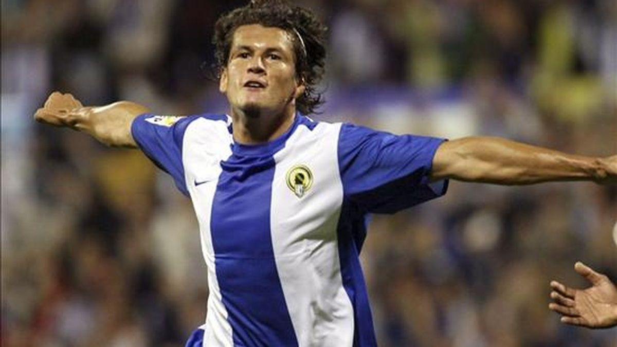 El delantero paraguayo del Hércules Nelson Haedo Valdez. EFE/Archivo