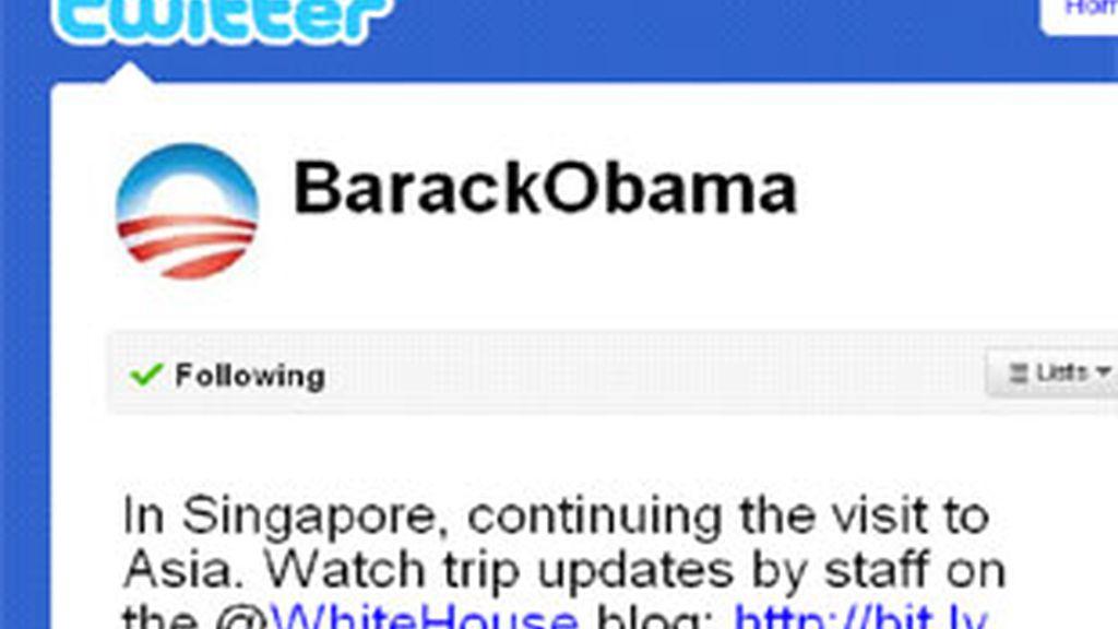 Obama tiene en Twitter más de 2.600.000 seguidores.