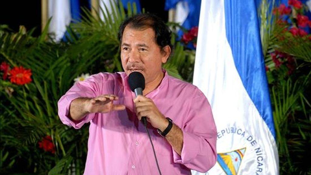 """El pasado martes el presidente Ortega calificó de """"ridícula y absurda"""" la aprobación de los restantes gobernantes de Centroamérica del reintegro """"por pleno derecho"""" de Honduras al SICA. EFE/Archivo"""