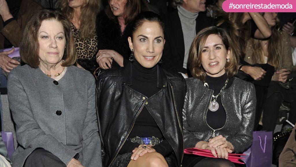 Natalia Figueroa, Toni Acosta y Alejandra Martos en el desfile de Roberto Torreta