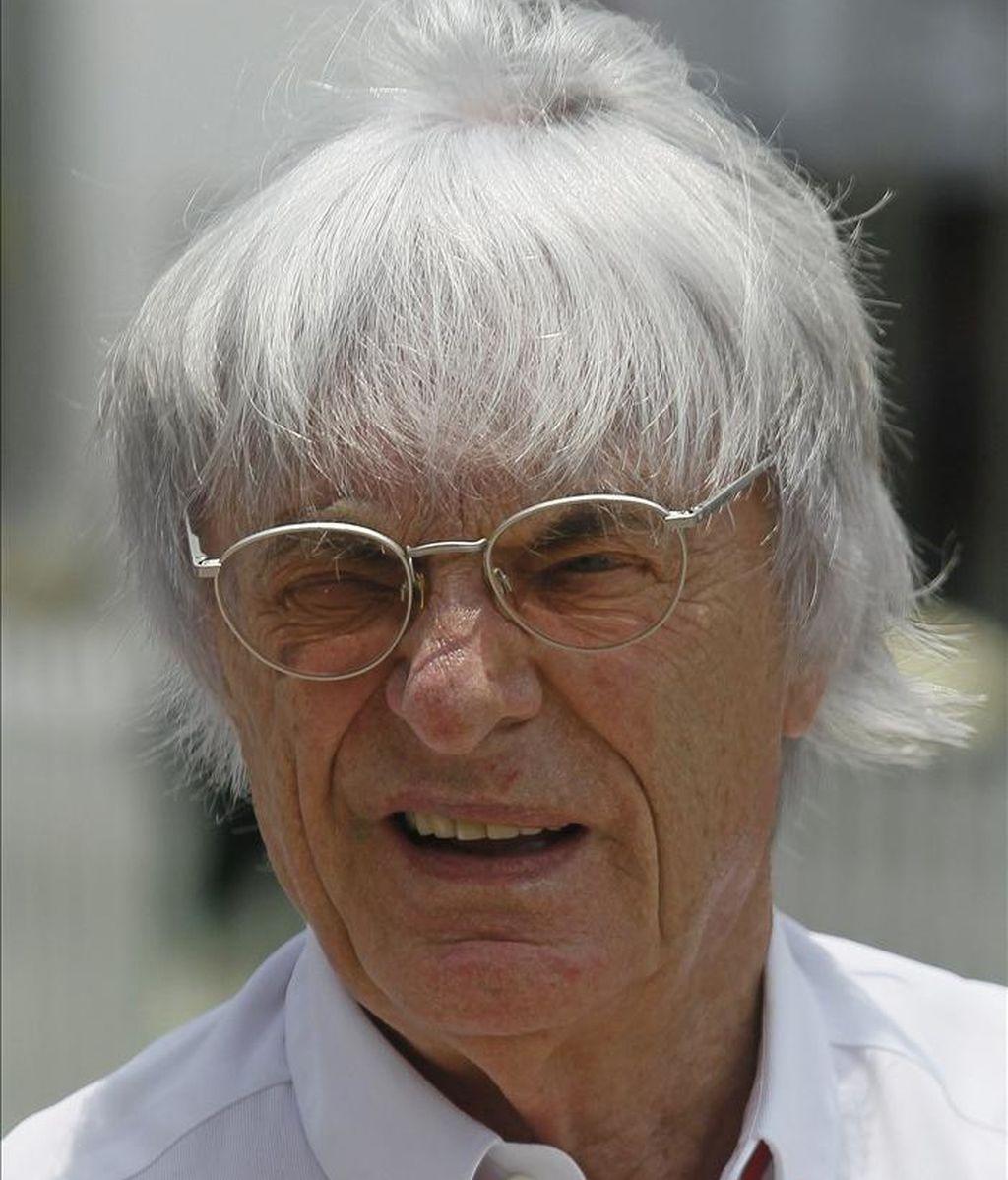 El patrón de la Fórmula Uno Bernie Ecclestone. EFE/Archivo