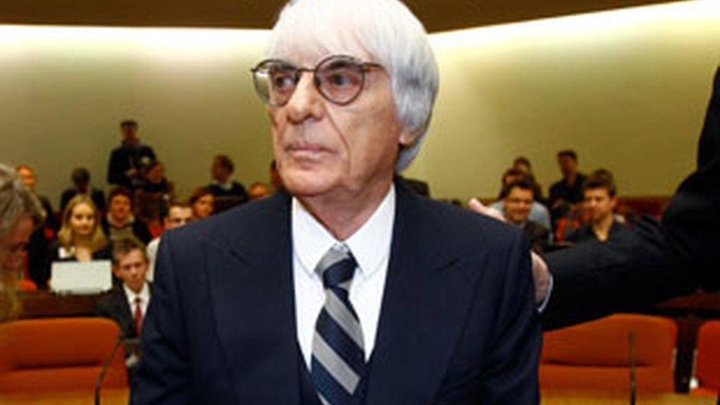 El patrón de la Fórmula 1, Bernie Ecclestone durante el juicio. Foto: Reuters