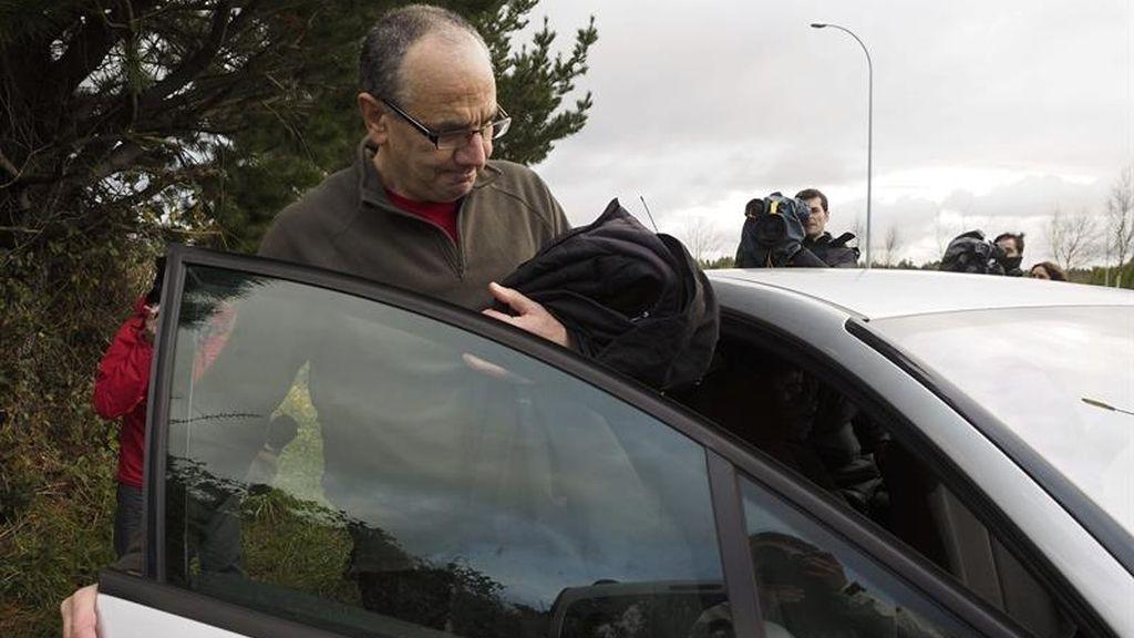 El etarra Alberto Plazaola Anduaga a su salida de la prisión de Teixeiro