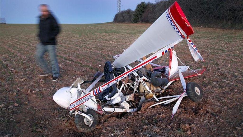 Imagen de un accidente de un ultraligero. EFE/Archivo