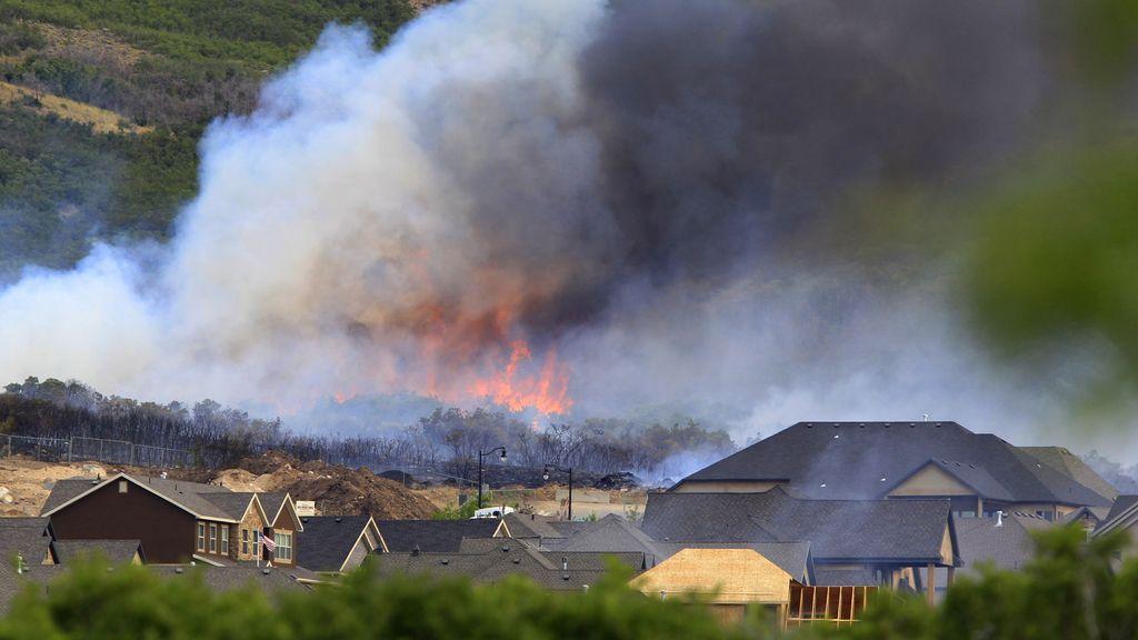 Gran incendio en Herriman, Utah