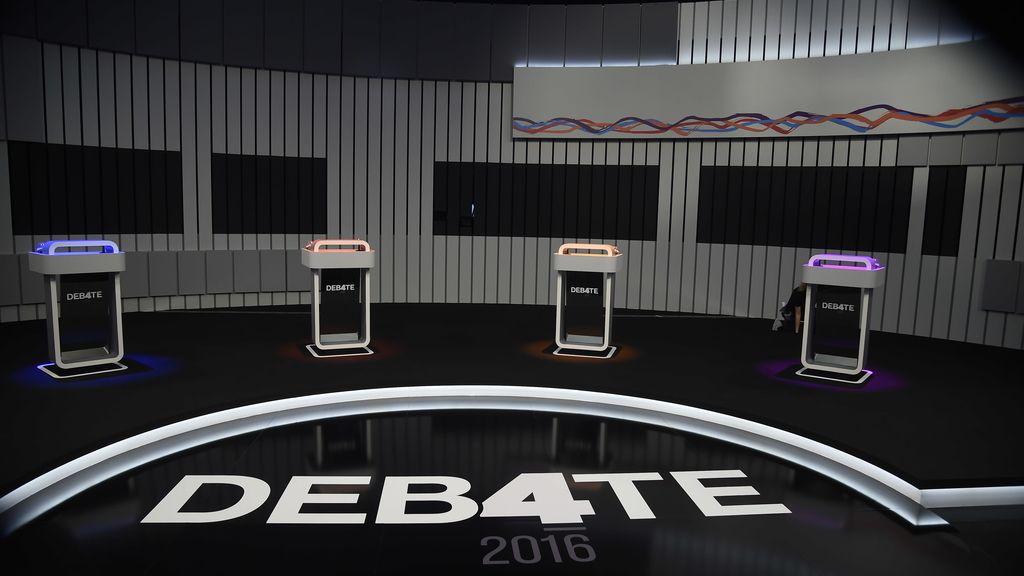 El plató del debate