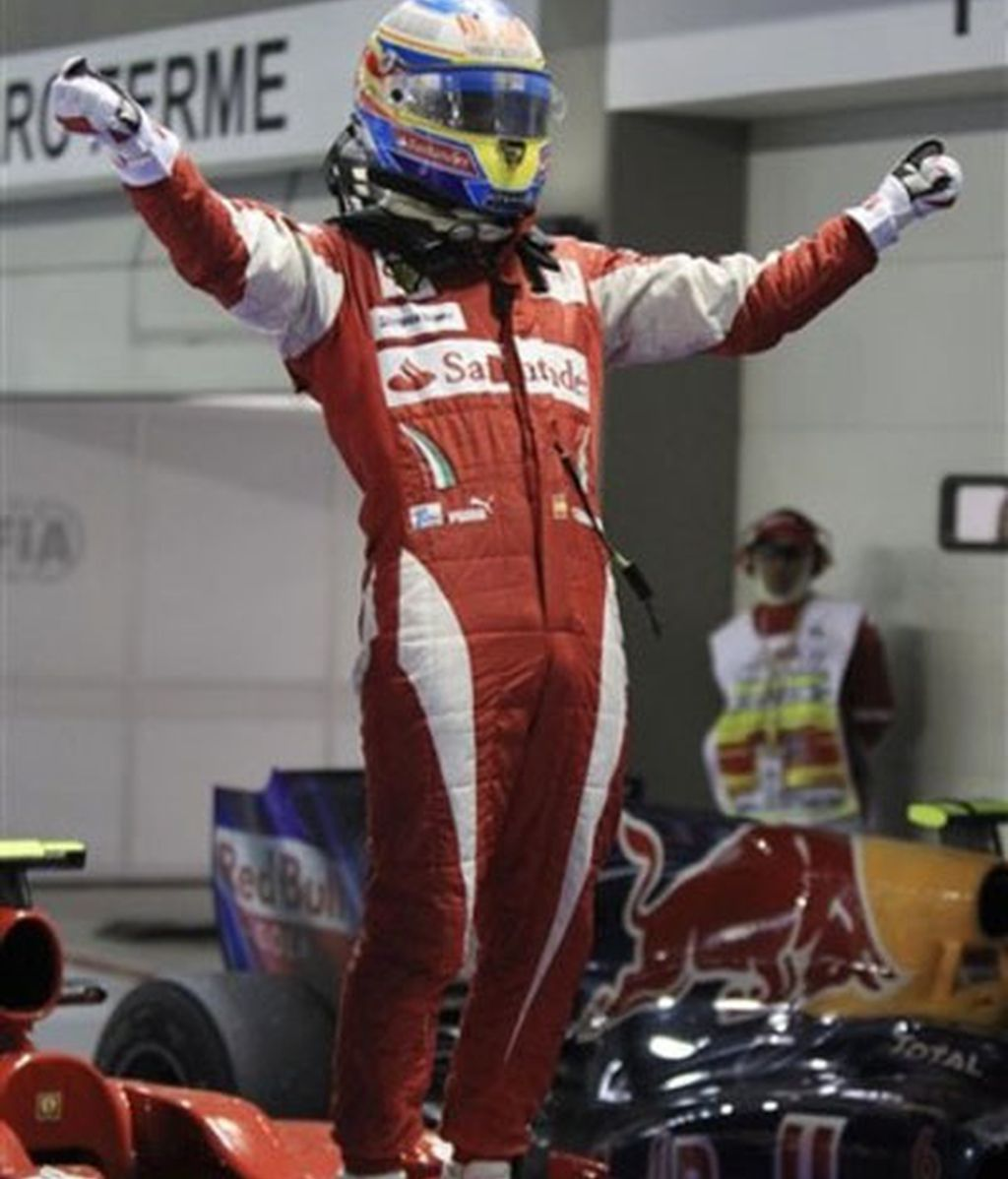 25ª victoria en la carrera de Alonso, tercera del año y segunda en el GP de Singapur