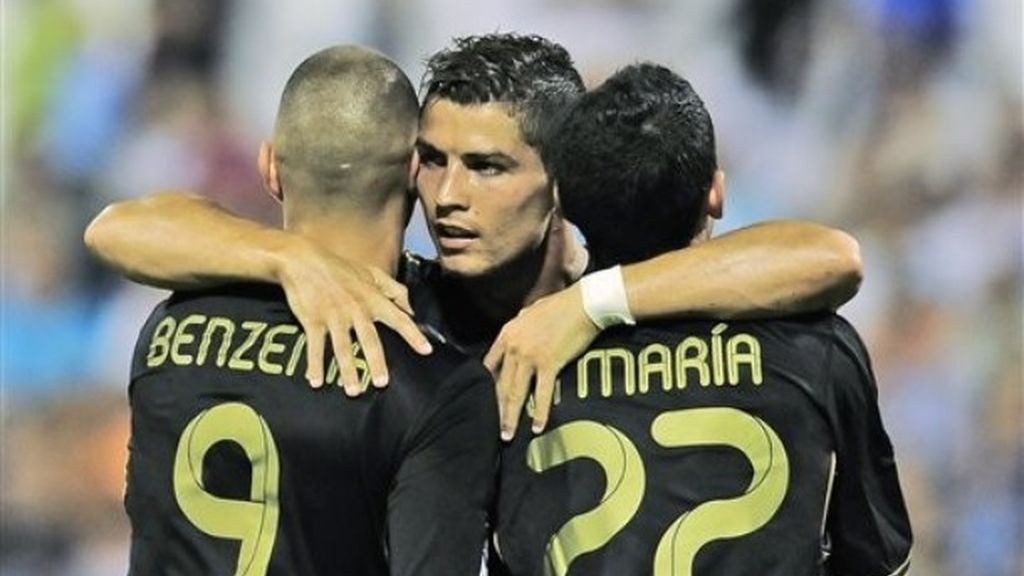 Cristiano Ronaldo, Karim Benzema y Angel di María