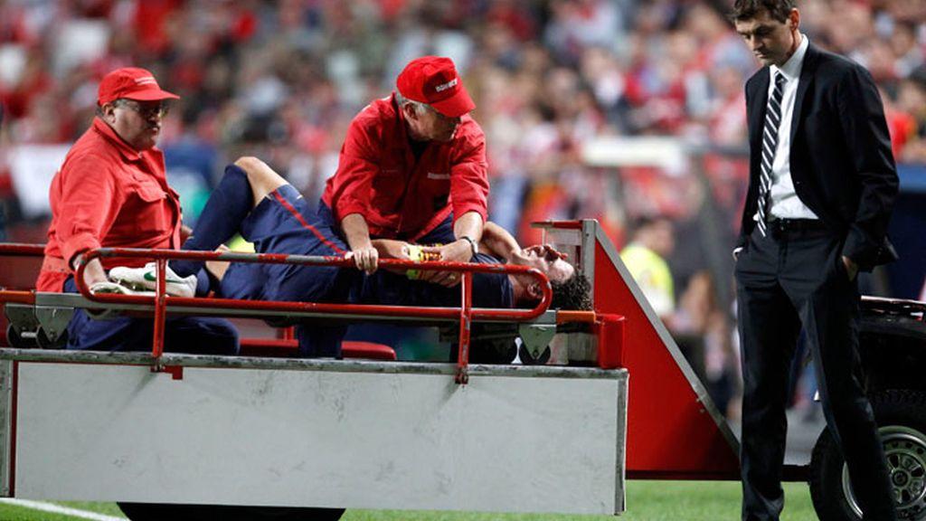 Vilanova se percata de la gravedad de la lesión de Puyol