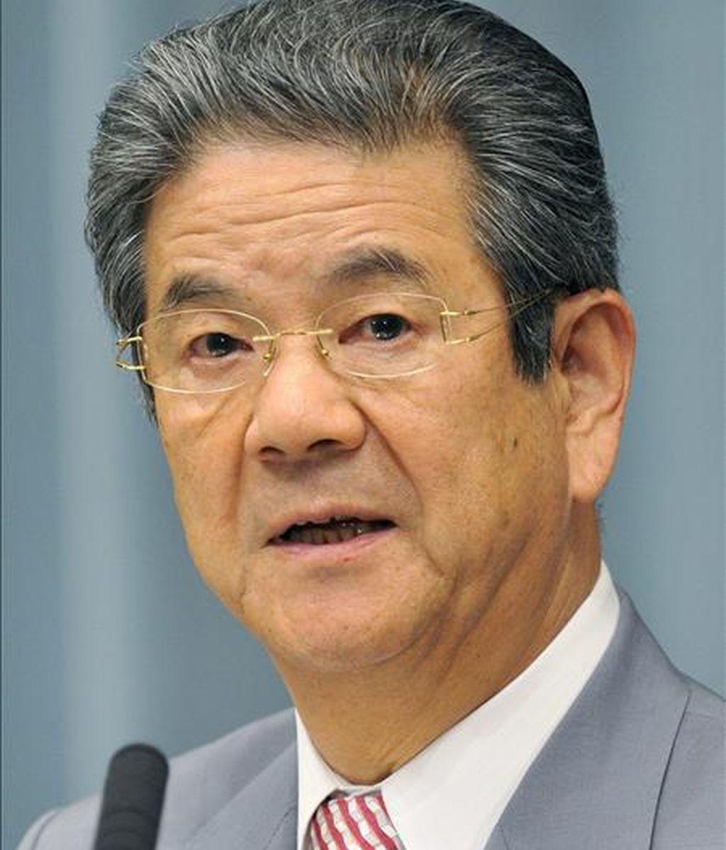El ministro japonés de Defensa, Toshimi Kitazawa. EFE/Archivo