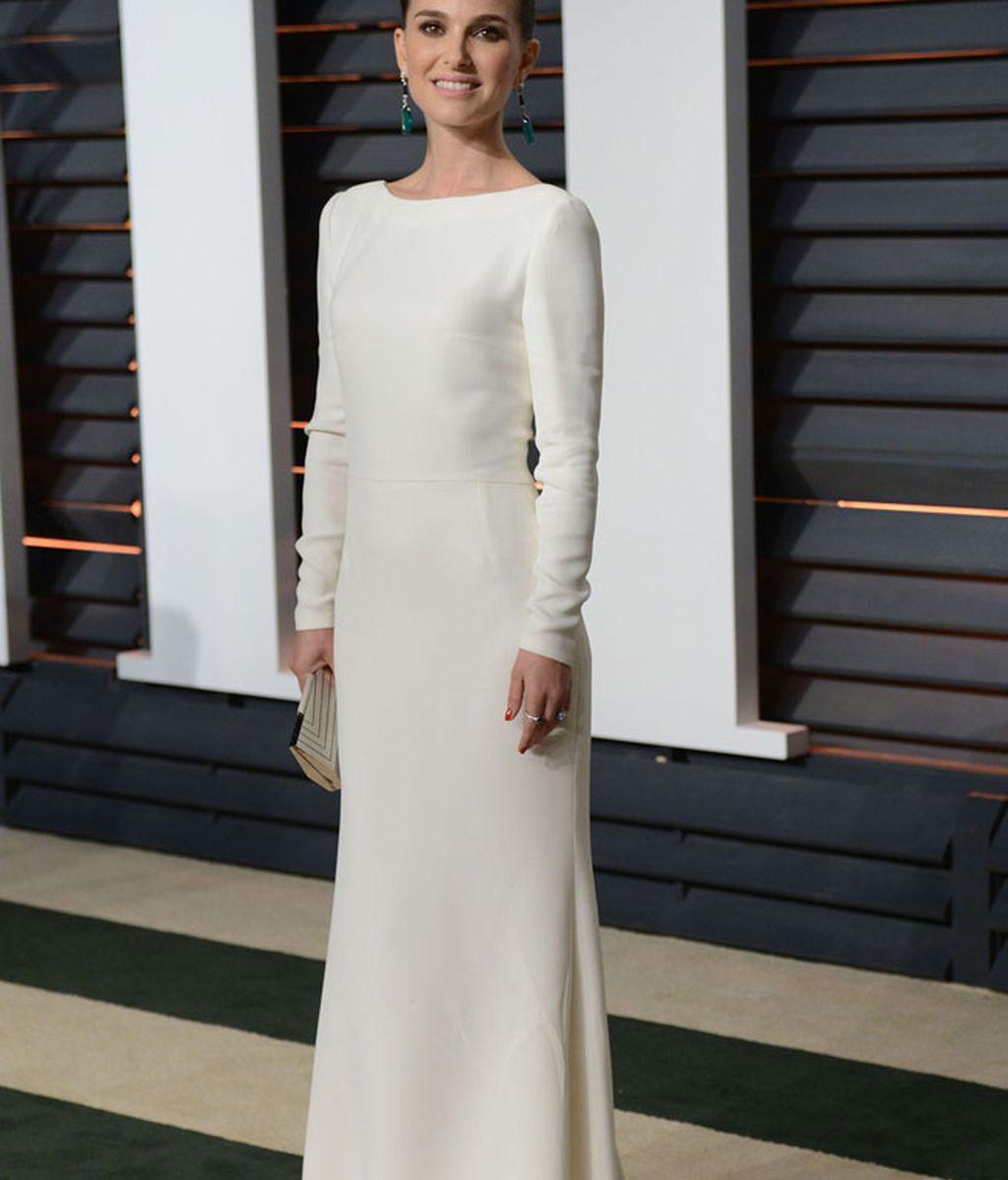 Natalie Portman eligió el color blanco para su vestido