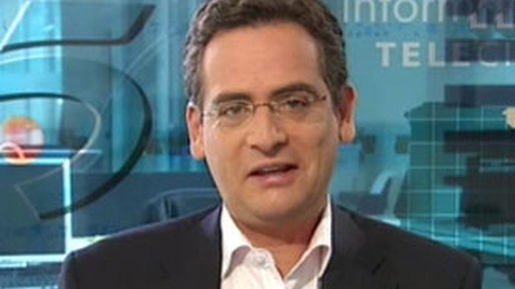 El presidente del PP en el País Vasco, Antonio Basagoiti, durante su entrevista en el Informativo Matinal. Vídeo: Informativos Telecinco.