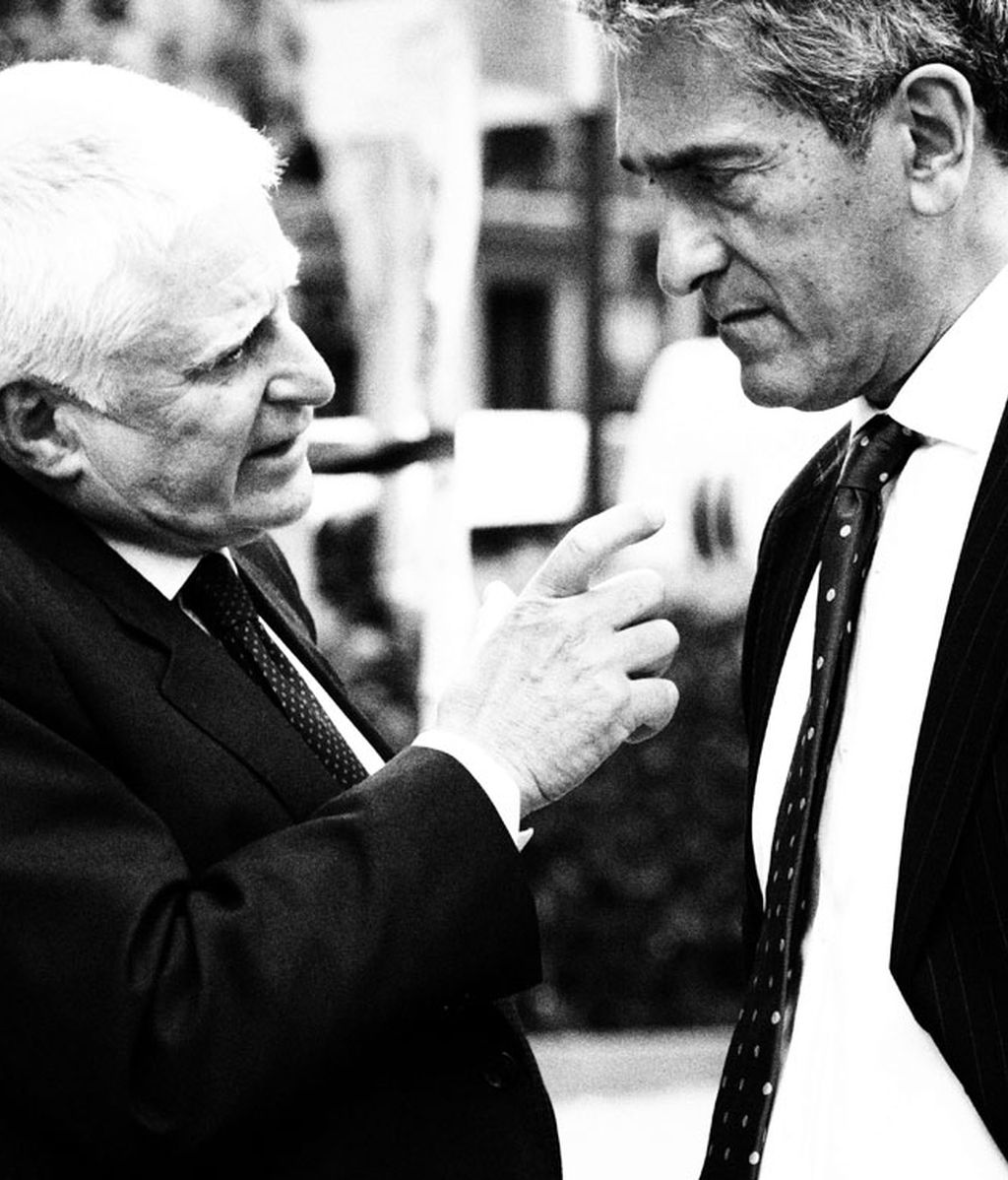 Paolo Vasile (Consejero Delegado Mediaset) y Javier Uría (Director Financiero)