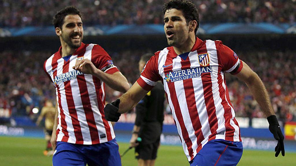 Costa celebra su gol al Milan
