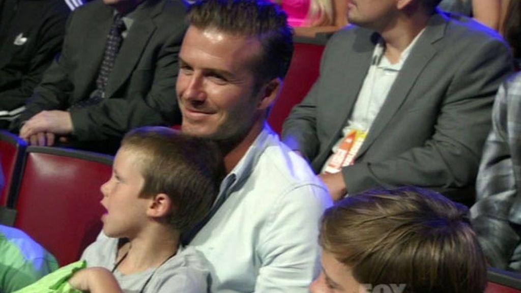 David Beckham con su hijo Cruz
