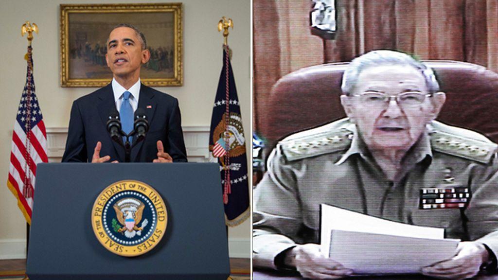 Los presidentes de Estados Unidos y Cuba, Barack Obama y Raúl Castro