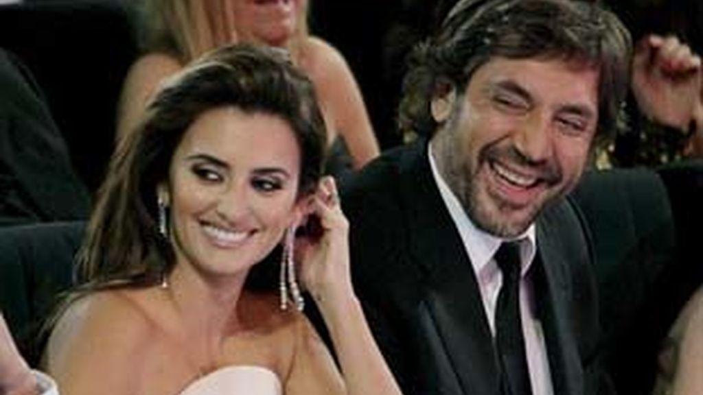 Penélope Cruz y Javier Bardem en su primera aparición pública durante la pasada entrega de los premios Goya. Foto: EFE