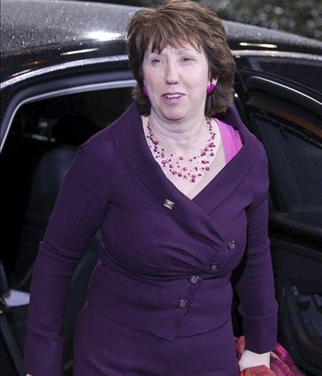 La jefa de la diplomacia de la Unión Europea (UE), Catherine Ashton. EFE/Archivo