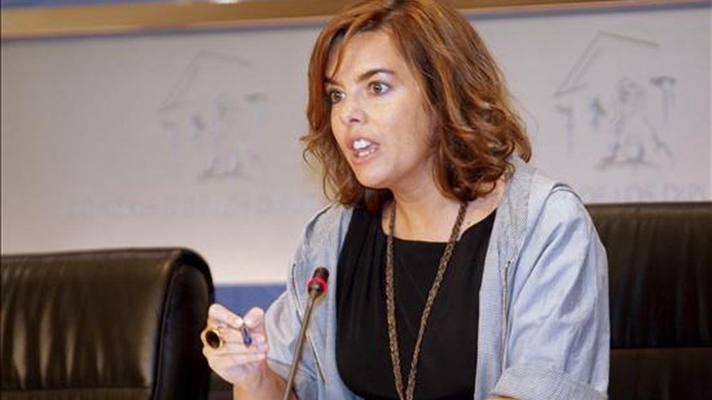 La portavoz del PP en el Congreso, Soraya Sáenz de Santamaría. EFE/Archivo