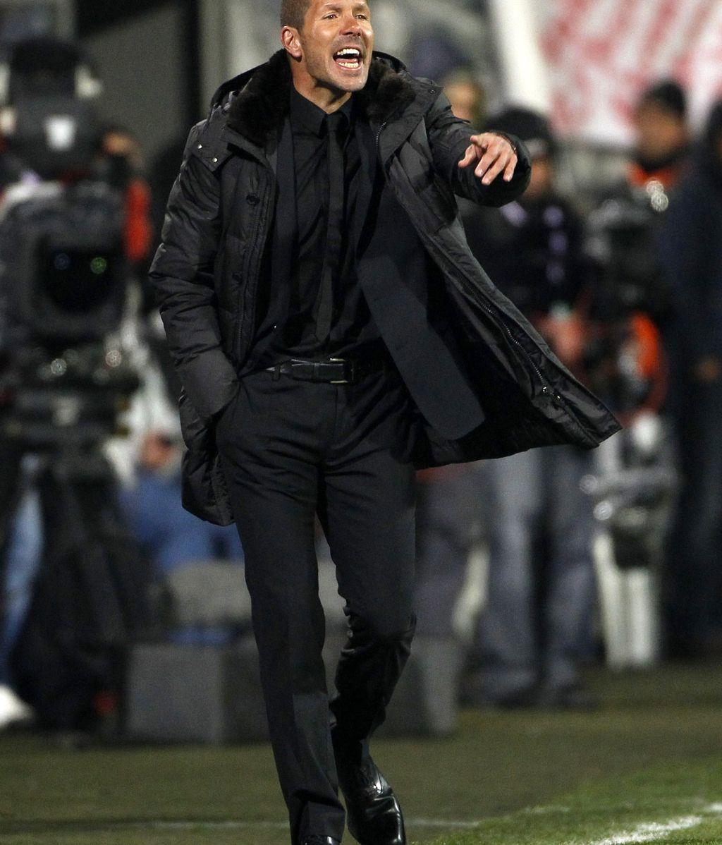 Diego Pablo Simeone durante el partido de vuelta de octavos de final ante el Besikitas