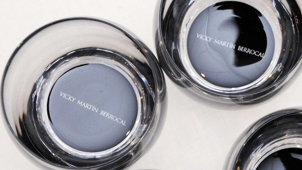 Detalle de los vasos diseñados por Vicky Martín Berrocal