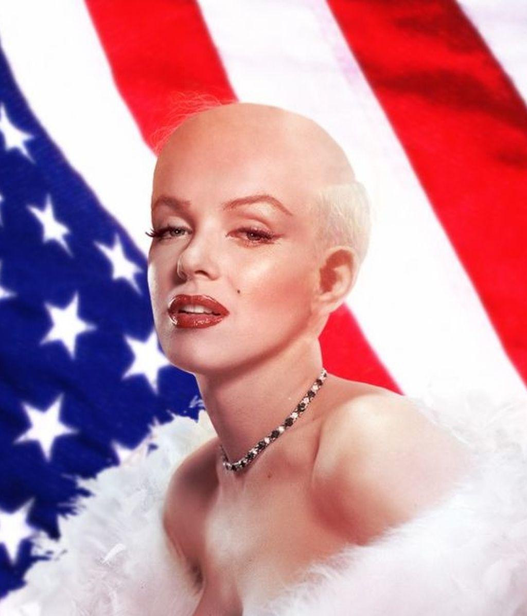 Imagina a Marilym Monroe