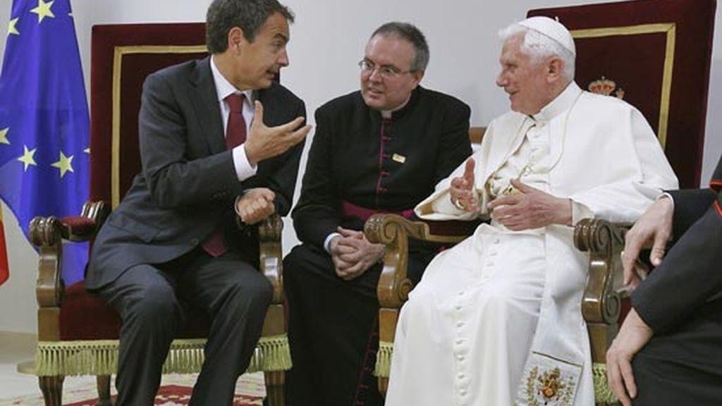2010: Zapatero con el Papa Benedicto XVI en su visita a España