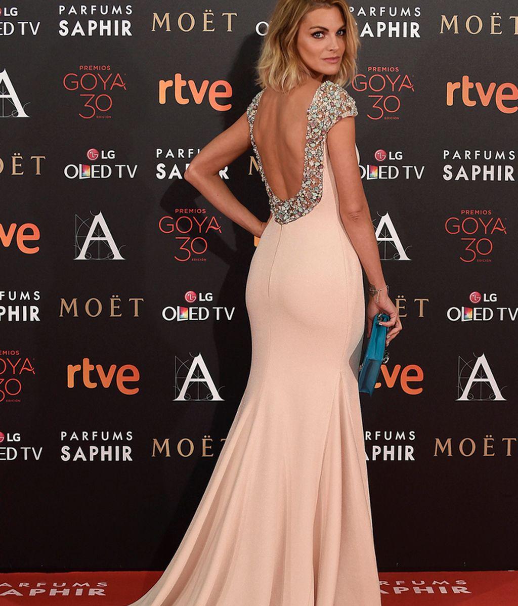 Amaia Salamanca con vestido de Pronovias