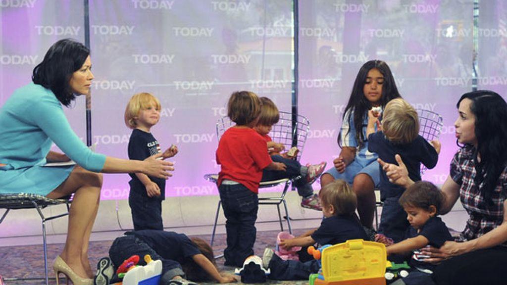 Durante un programa de televisión con sus hijos