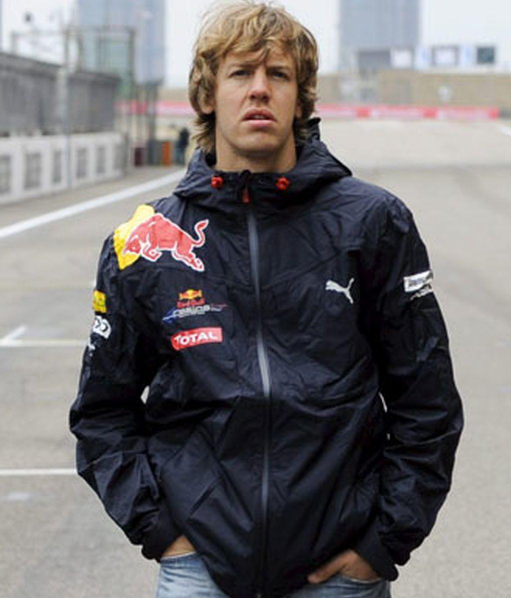 Vettel en el circuito