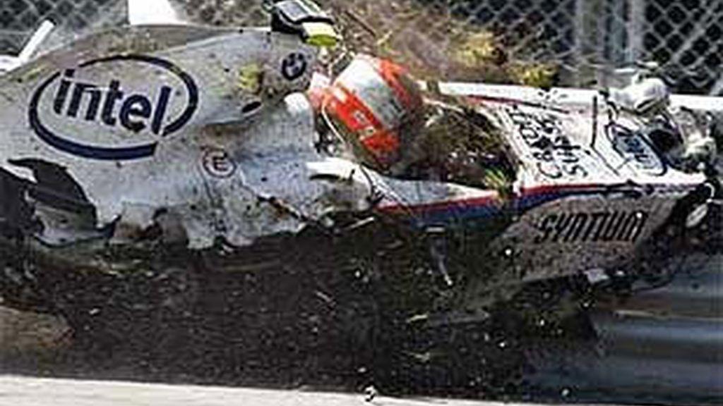 El espectacular accidente de Robert Kubica del año pasado.