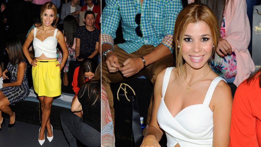 Natalia en el desfile de Juanjo Oliva