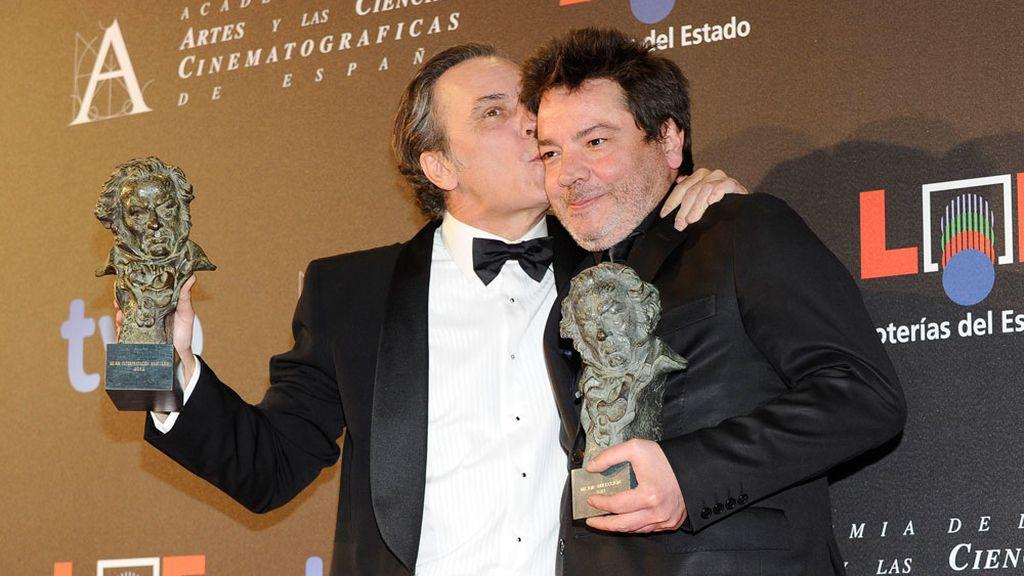 José Coronado y Enrique Urbizu disfrutan de sus premios Goya