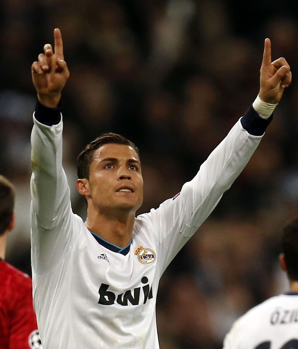 Cristiano Ronaldo celebra su gol ante el Manchester United