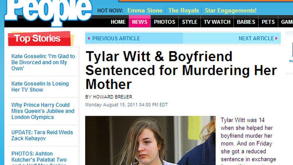 Tylar Witt, condenada a 15 años de prisión por haber matado a su madre
