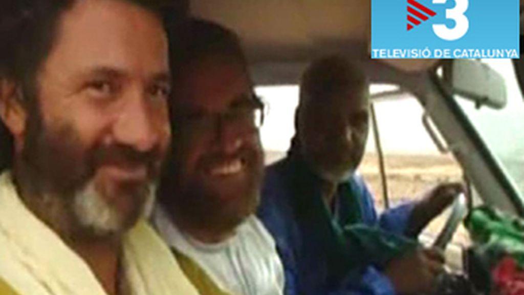 Los cooperantes viajaron en el mismo coche que su secuestrador tras ser liberados