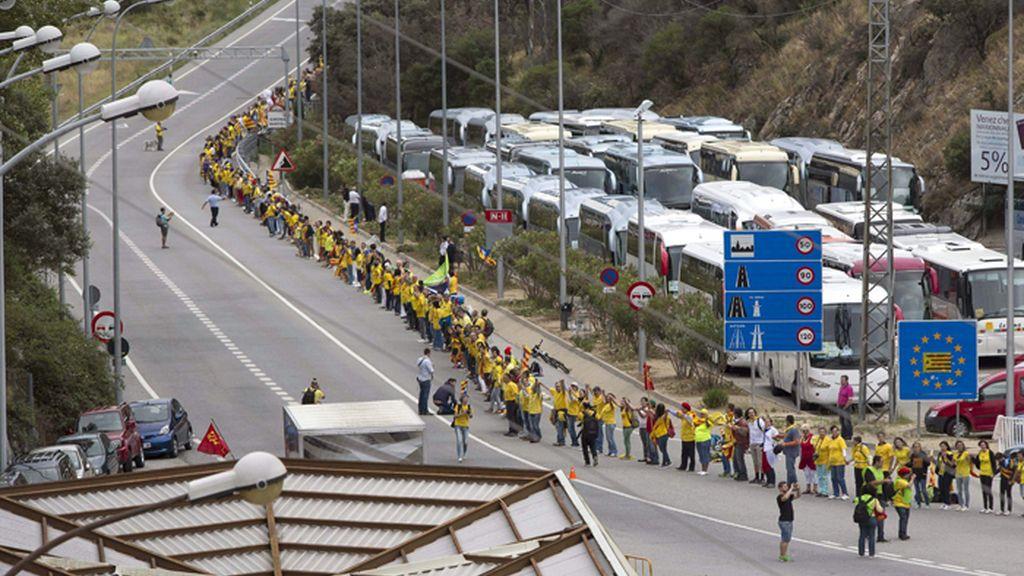Desde Francia la Vía Catalana inicia su demanada indepedentista