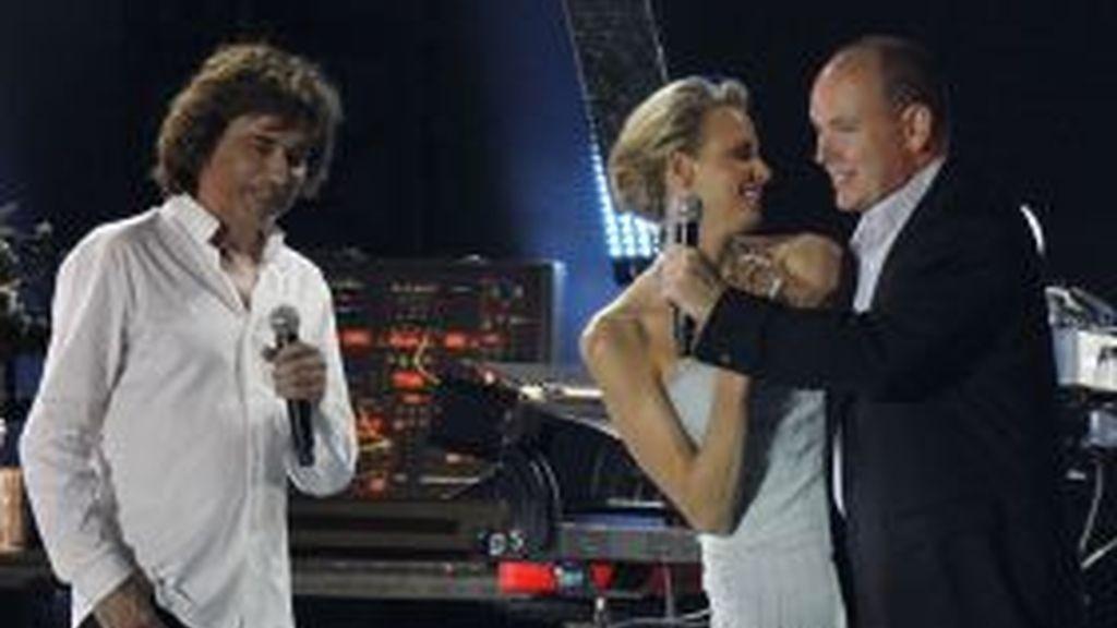 Alberto y Charlene, ya casados, en el concierto de Jean Pierre Jarret. Foto: Gtres