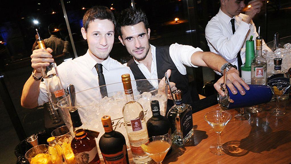 Gracias a ellos no faltó algo básico en una fiesta: los cocktails