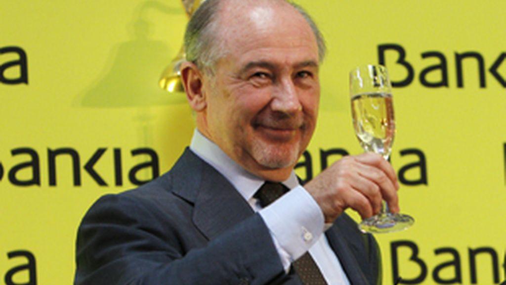 Bankia debutó este miércoles en la Bolsa de Madrid a 3,68 euros. FOTO: EFE
