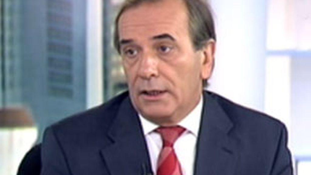 José Antonio Alonso durante la entrevista en el Informativo Matinal. Vídeo: Informativos Telecinco.