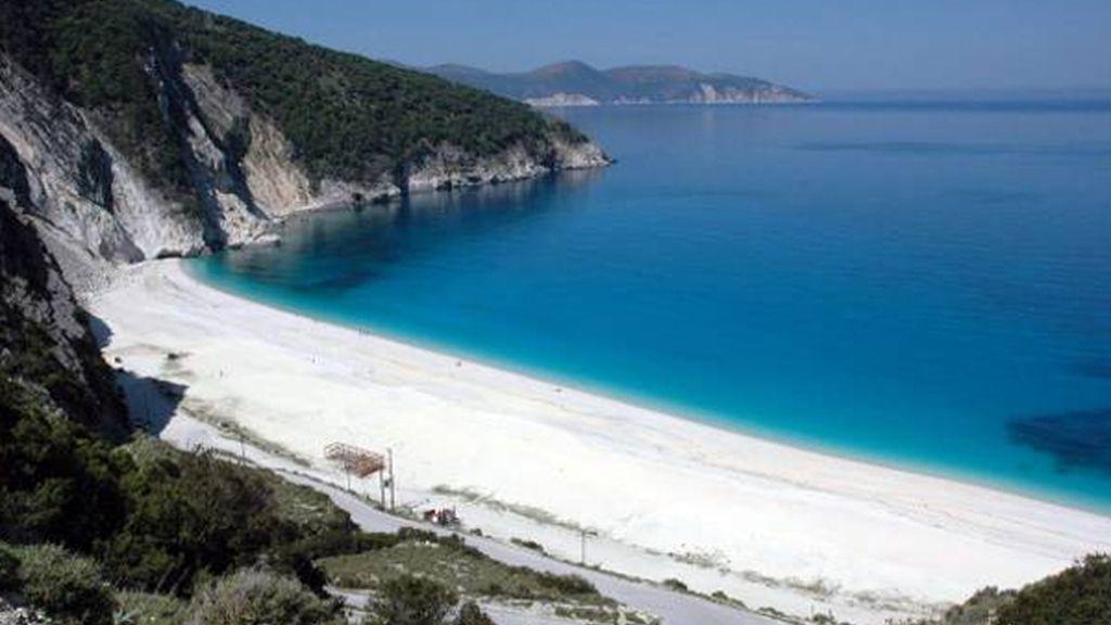 Playa Myrtos, en Cefalonia