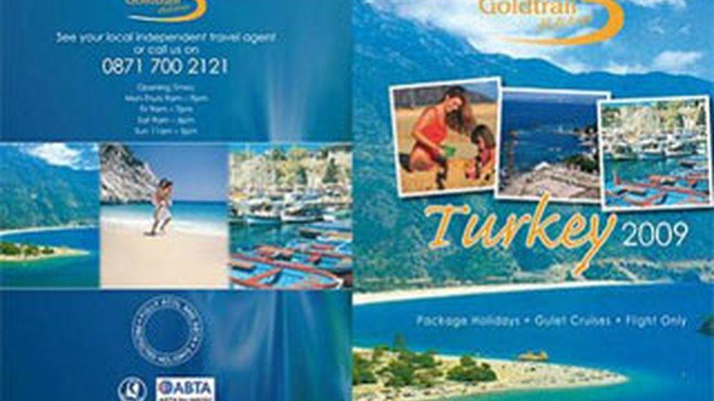 El folleto de los viajes  a Turquía ofrecidos por Goldtrail el pasado año.
